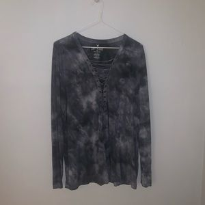 American Eagle Gray Smoke Long Sleeve-Large